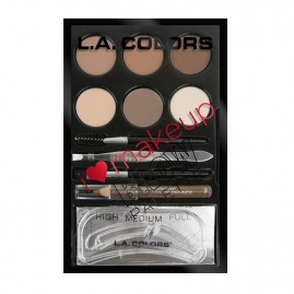 L.A. Colors Rinkinys Antakiams I Heart Make Up Light to Medium